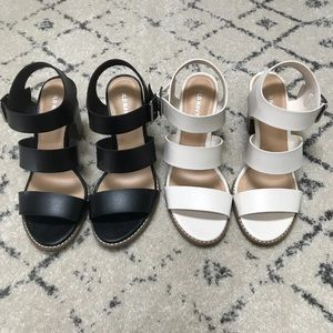 Sandals Two pair. Black and white